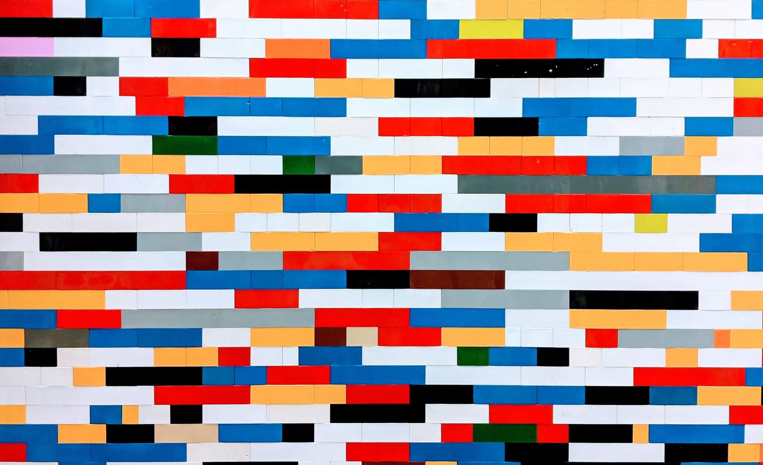 Coloured bricks of lego