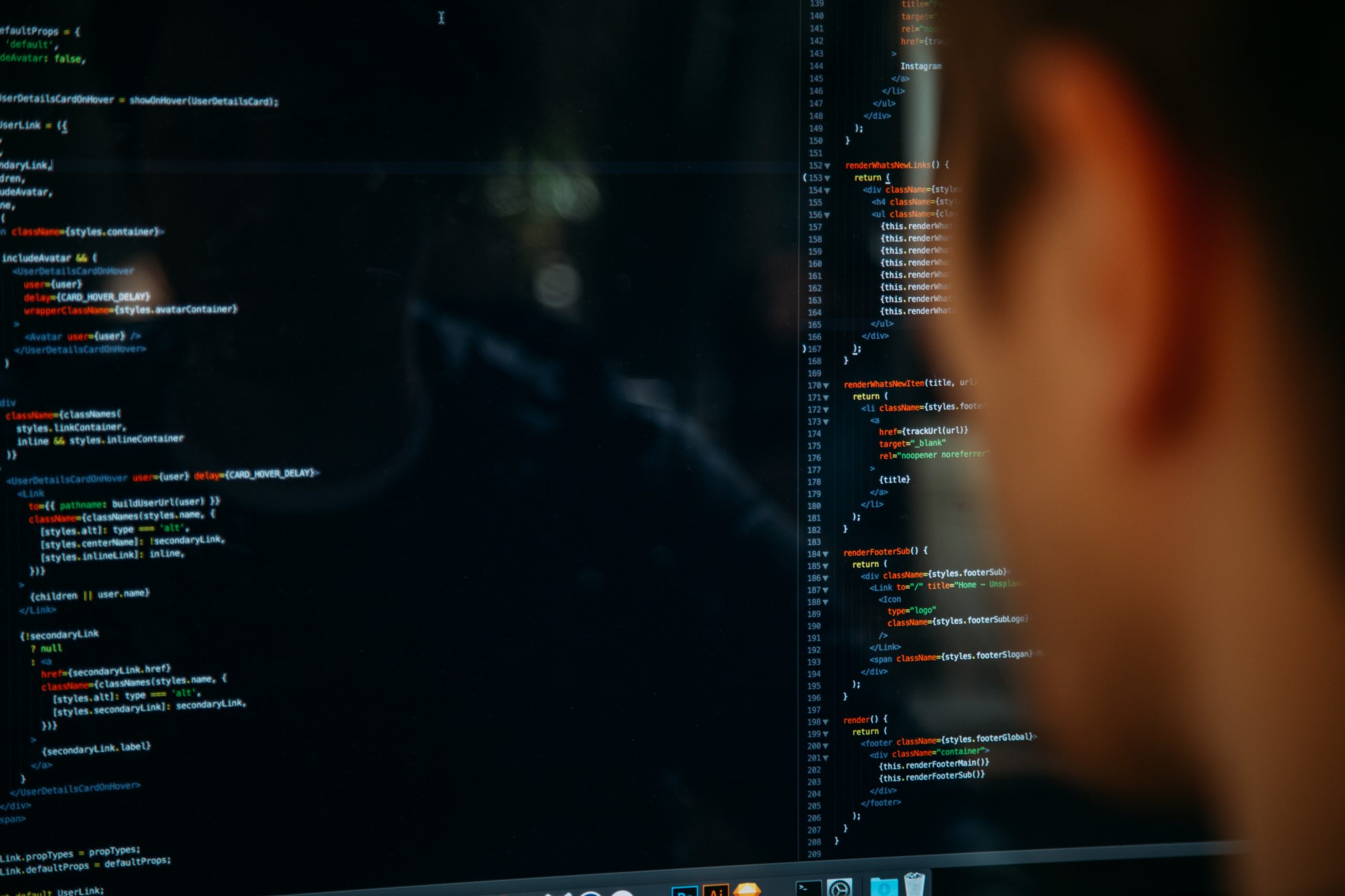 Man staring at code on a screen. Photo by Charles Deluvio on Unsplash